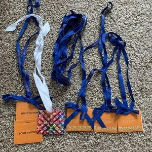 Louis Vuitton ribbon and tags limited edition